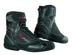Chaussures Impermeables Cuir Tissu Moto Motard Sport Touring Antipluie noir 41