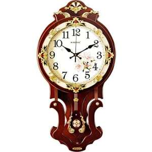 HE-clock Horloge Murale Continental Salon Mute Balayage Horloge Murale Horloge Murale À Quartz Moderne avec Pendule (Taille : 16 inches)