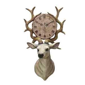 HE-clock Résine Horloge Murale Creative Salon Horloge Continental Mute Quartz Horloge Murale Grandes Horloges pour Salon, Chambre, Maison Mur Art Décoration
