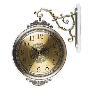 Horloge Murale Européenne Balayage Mur Horloge Salon Quartz Horloge Murale Grand Double Face Murale Horloge Creative (Couleur : Une)