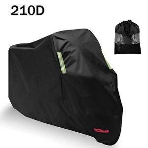 Housse de Protection pour Moto, AngLink 265 x 125 x 105 cm 210D Oxford Couvertures Housse de Moto Imperméable Contre la Pluie, la Neige, la poussière et la saleté, Les Rayons UV