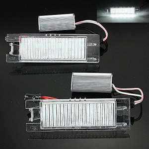 KaTur AUDEW 182x Licence LED Lampe de Plaque d'immatriculation pour Vauxhall Opel Corsa C D Astra H J Insignia