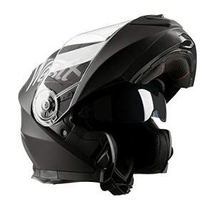 Westt® Torque X · Casque Moto Modulable Double Visière pour Scooter Chopper · Casque de Moto Homme et Femme en Noir Mat · ECE Homologué