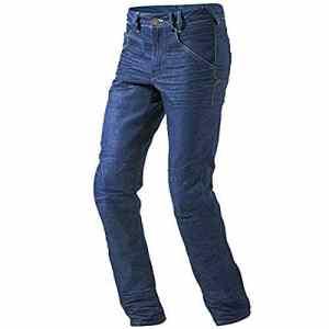 JET Pantalon Moto Homme Jeans Kevlar Aramid avec Armure (Bleu, 48 Longue/Taille 32″ Longueur 34″(M))