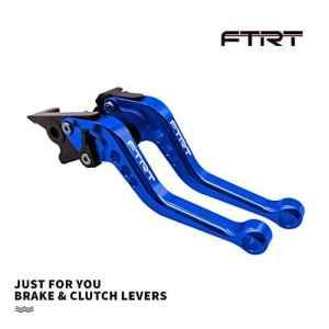 Leviers d'embrayage de frein courts FTRT pour Yamaha YZF R1 2002-2003, YZF R6 1999-2004, FZS 1000 2001-2005,FZ1 FAZER 2001-2005,Bleu