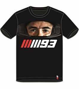 Pritelli 1833012/S Marc Marquez 93Moto GP Helmet T-Shirt Officiel 2018, Noir