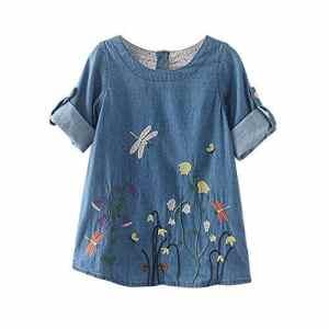 Robe Bébé Filles Mignon Vêtements ABsoar Jupe Broderie de Fleurs de Soie Enfant Fille O-Cou Broderie de Fleurs Pas Cher Robe Princesse 2-7 Ans Fille