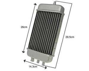 Ventilateur/Radiateur pour Aprilia RX 50cc, SX SM, Derbi Senda R, Gilera RCR, SMT, SCHALT cyclomoteur