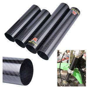 Wingsmoto Protection d'enveloppe de fourche avant en fibre de carbone pour le vélo de poussière CRF250 / 450R YZ250 450F YZ250X