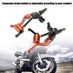 Elerose Une Paire de 22 mm CNC Moto Pompe de Frein Hydraulique Embrayage en Alliage D'aluminium Poignée Réglable Frein Maître-cylindre D'embrayage (Orange)