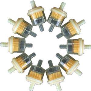 MINGRONG 10pcs / ensemble filtre à essence en ligne de moteur de moto de moteur universel filtre à essence en ligne diesel