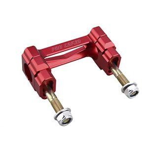 Pro Caken billet de 28 mm M12 Fat Guidon Riser Clamp support de fixation pour CR 125 250 Cr125 Cr250 Crf250 CRF 450 CRF 450 x Rouge