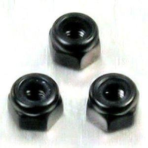 Ecrou Nylstop en Aluminium M3, 5.5mm Socket Drive Noir