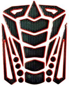 Tankpad Protection de réservoir pour moto aspect carbone 3D Universel Protection de réservoir Rouge