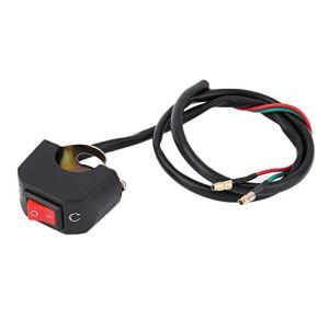 Guidon Universel Moto Interrupteur Bouton ON-OFF Commutateur Pour U5 U7 U2 Projecteur LED Ange Yeux Lumière Spotlight Switch-Noir