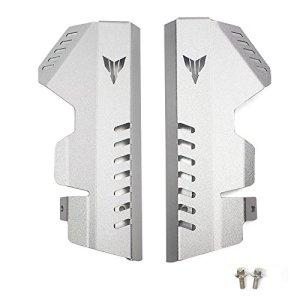 Protecteur de capot latéral de grille de protection CNC en aluminium CNC pour Yamaha FZ 07 MT-07 2014 2015 2016 2017 (Argent)