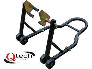 Qtech Support de Moto Avant pour Roue Avant 200 kg Noir