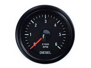 Tachymètre pour indicateur diesel 52 mm – Pour alternateur – Instrument auxiliaire – tr/min RPM universel