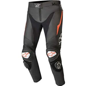 Alpinestars – Pantalon Moto Track V2 Leather Pants Black Red Fluo – 44