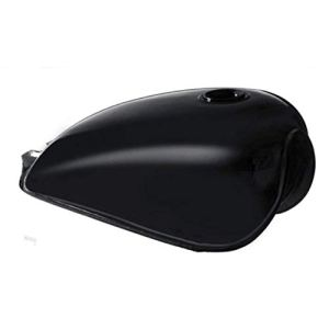 Banbie8409 Réservoir d'essence Universel en Fer Bobber de réservoir d'essence de café Racer pour Suzuki GN125 GN250-noir Brillant-