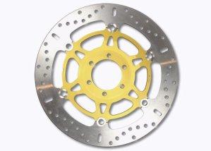 EBC Disques de frein INOX x-Disc/acier inoxydable Disque de frein flottant avec un Aluminium-Bague intérieure