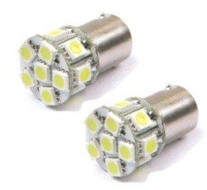Live-wire-direct 2x blanc pur 24V 13LED Tail feu de position côté Indicateur Ampoule BA15S P21W 1156