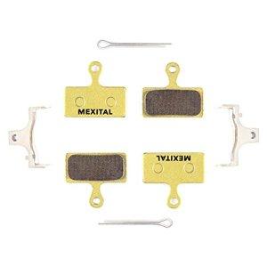 MEXITAL 2 Paires Plaquettes de Frein à Disque fritté pour Shimano Deore M610 M615 M6000 SLX M666 M675 M7000 XT M785 M8000 Saint BR-M820 XTR M960 M985 M987 M988 M9000 Alfine BT-S700 RS785 RS685
