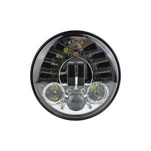 YUXIAOYU Lumière Avant de capteur de gravité de Phare de Moto LED de 5,75 Pouces pour Harley