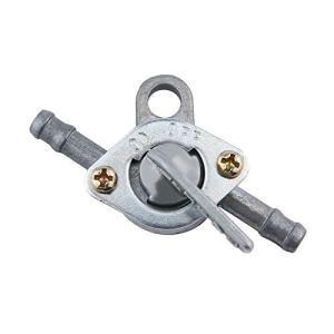 Carburant Essence Interrupteur robinet robinet d'essence Petcock avec deux extrémités interrupteur marche/arrêt argenté