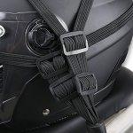 Lionina Casque de Moto Bagages Corde Bungee Corde Bandage Strap Elastique Sangle avec 2 Crochets, Accessoires d'équitation