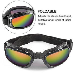 Lunettes de ski de protection anti-vent de lunettes de moto de pliage outre des lunettes de course de route (couleur: cadre noir et lentille colorée)