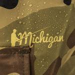 Michigan – Waders de pêche avec ceinture – nylon/imperméable – style camouflage – EU 44,5