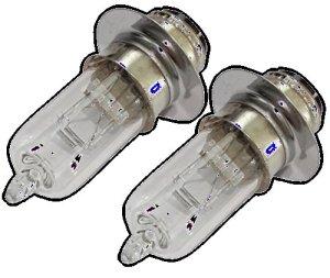 Aerzetix: 2x ampoule M5 12V 35/35W P15d-25-1 pour moto scooter C18930