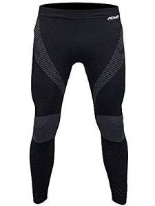 Armr Moto Moto Thermique Couche de Base Moto sous Pantalon Sport Noir – Noir, L/XL