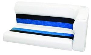 Wise 8WD107-1008 Deluxe Series Pontoon Coussin d'angle Gauche pour Salon Blanc/Bleu Marine 117 cm