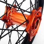 TARAZON 21/19 Roues Jantes Set Moyeu Cercle Orange SX EXC SXF 150 200 250 350 450 530 03-12