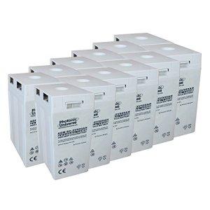 24V 12kWh 500Ah AGM Deep Cycle batterie de secours (12x 2V Batteries) pour grande solaire, le vent, les systèmes d'alimentation Hors-réseau ou Ménage/d'urgence de stockage d'énergie