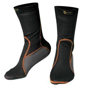 A-pro Chaussettes Thermique Anti Froid Respirant Unisexe Hivernal Moto Motard noir M