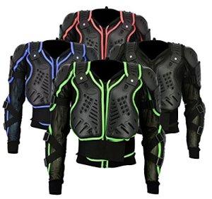 ba-002| Motocross Moto motorcyle Protection pour femme Body Armour d'équitation VTT Cyclisme Patinage Snowboard Track Crash Guard Approuvé CE–Noir – noir – X-Large