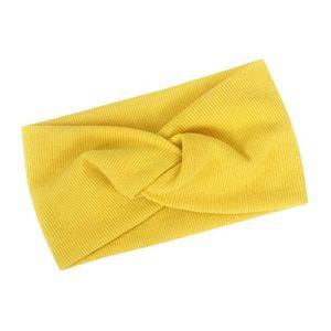 Bandeau De Tricot De Mode Bowknot Bandeau De Yoga En Plein Air De Couleur Pure Pour Femmes