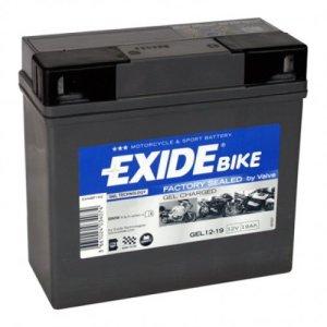 Batterie – 707.26.55 – GEL 519901 EXIDE – Pour la première fois! Technologie de gel pour utilisation moto – que EXIDE Montage avec vis et écrou –