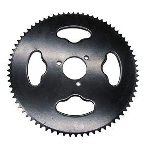 BIYI T8F-74 74 dents pignon denté de moto pour petit quatre roues en métal durable pignon modifié partie de moto argent