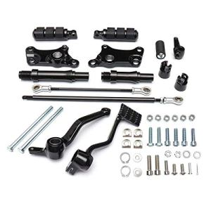 DASEXY Pied Noir Pegs Commandes avancées Kit complet for Harley Sportster XL883 XL1200 1991-2003