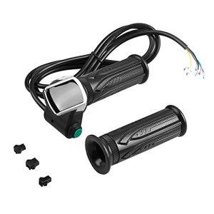 Dilwe Throttle Grip étanche écran LCD Twist Throttle Accelerator Poignées et Bent Ensemble de câbles pour voitures électriques Bike, 36V