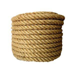 DLYDSS Corde de sécurité, corde de chanvre, corde de jute naturelle, corde d'extérieur ancienne imitation, longueur de 50 m, convient au métier, aménagement paysager décoratif, tir à la corde, balanço