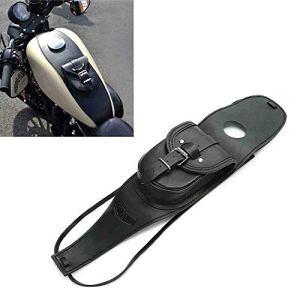 ETbotu Sacoche de réservoir pour Moto, Panneau réservoir Moto en Cuir PU avec étui pour Harley Sportster pour Harley Sportster Noir