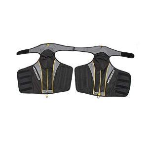 Fieuocs 1 Paire de Moto Forte Genou Protecteur Raincoat Genouillères Vélo Genou Bretelles Genou Coupe Accessoires Moto (Couleur : Noir)