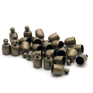 Gamloious 20 Pcs décorative Bricolage Artisanat Bol Couleur Bronze en Forme Inoxydable Metall Bells