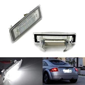 GOFORJUMP Lampe de Plaque d'immatriculation de numéro de 2 pièces LED pour A/UDI TT 8N 1999-2006