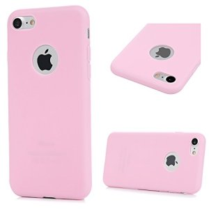 GuardGal Coque pour iphone7(4.7inch), Silicone Protection Bumper Gel Souple TPU Case Cover Coques TPU de broyage pour iphone7(4.7inch) Rose Clair